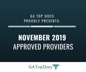 GA Top Docs Proudly Presents November 2019 Approved Providers
